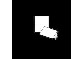 visitekaartjes drukken met korte vouw, open formaat van 110 x 85 mm
