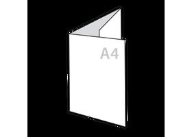 a4 drieluik folders drukken op zwaar papier