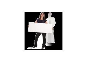 brede kartonnen pop op levensgroot formaat