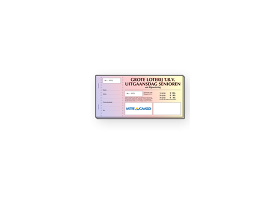 Fullcolor lotenboekjes, afscheurbare loten op blok genummerd en met perforatie