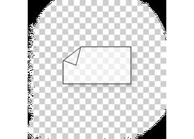raamstickers met witte bedrukking 12 x 19 cm