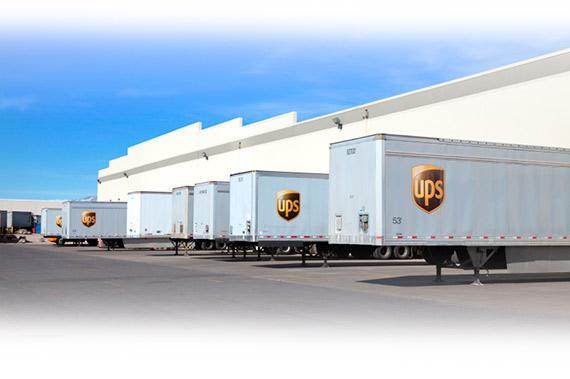 De internetdrukkerij transporteert via UPS koerier